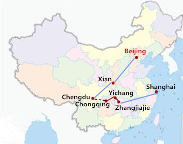 15 Days China Yangtze Cruise with Zhangjiajie