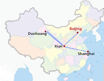 9 Days Beijing Xian Dunhuang Shanghai Tour