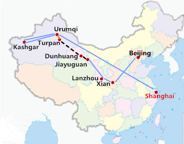 17 Days China Silk Road from Shanghai