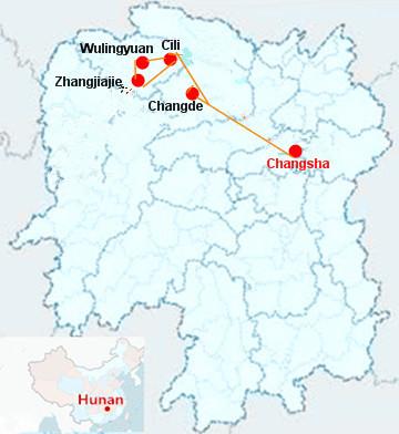 5 Days Changsha Zhangjiajie Tour