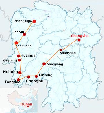 9 Days  Highlights HunanTour