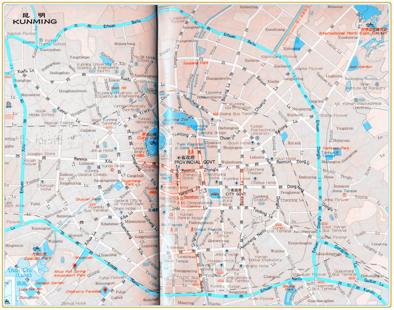 Kunming Bus Map on hefei bus map, changchun bus map, wuhan bus map, haikou bus map, changzhou bus map, bangalore bus map, osaka bus map, ho chi minh city bus map, foshan bus map, nanchang bus map, fukuoka bus map, chongqing bus map, yichang bus map, harbin bus map, shenzhen bus map, ningbo bus map, shenyang bus map, lanzhou bus map, lijiang bus map, ipoh bus map,