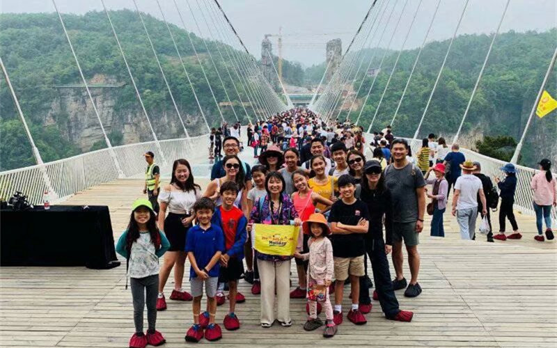 Australia Tourist Group traveled in Zhangjiajie