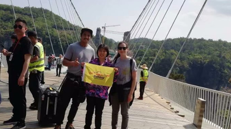 Australia Couple had honeymoon in Zhangjiajie