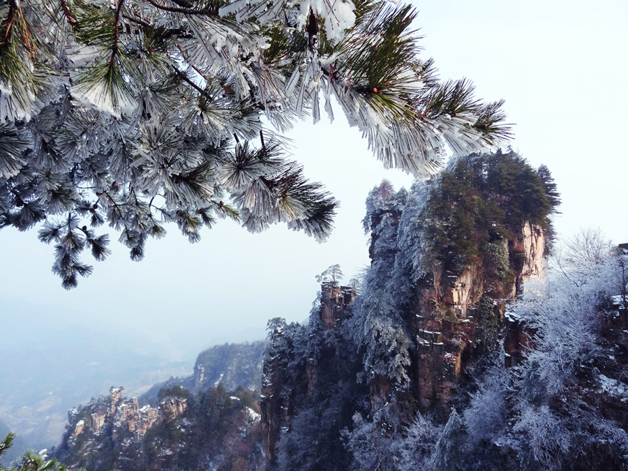 What to see if it snows in Zhangjiajie?