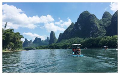 Yangdi section of Li River bamboo raft
